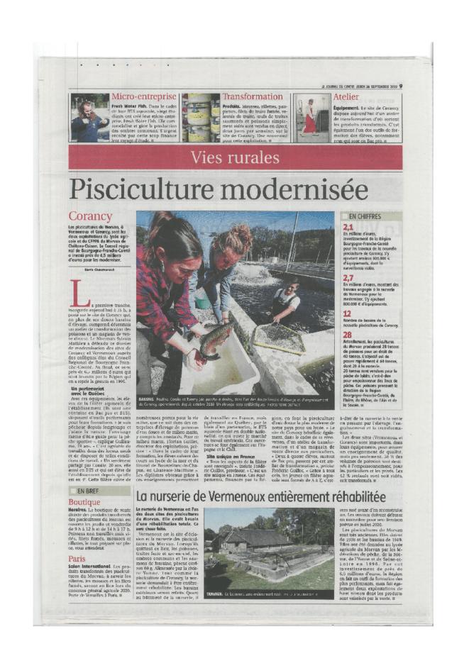 Inauguration pisciculture