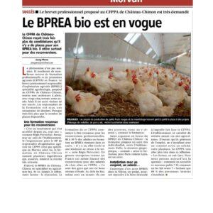 Le BPREA Bio au CFPPA du Morvan