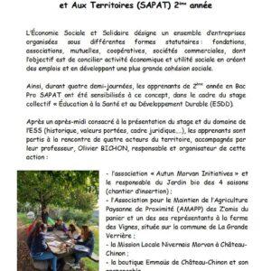 Les Bac Pro 2 SAPAT : sensibilisation à l'Économie Sociale et Solidaire